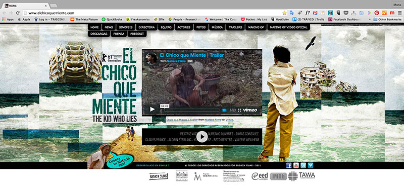 The Kid Who Lies, First Website made in 2011.